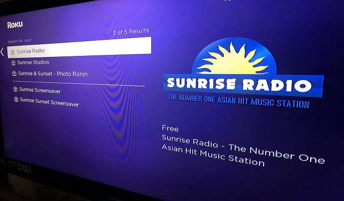 Sunrise Radio launches channel on Roku