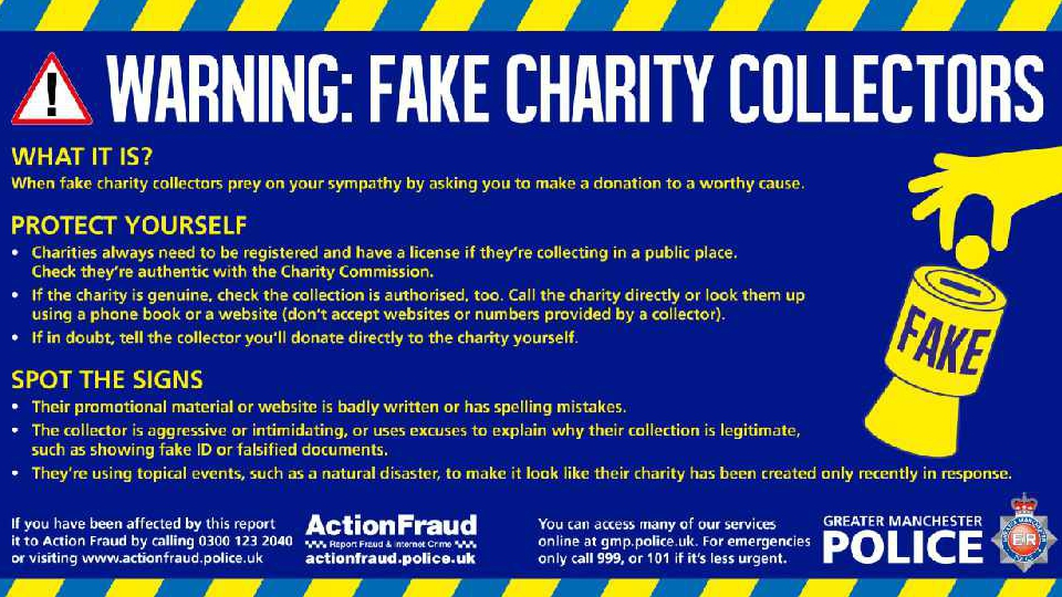Police Warn About Fake Charity Collectors Revolution 96 2