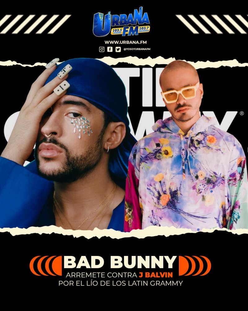 Bad Bunny arremete contra J Balvin por el lío de los Latin Grammy