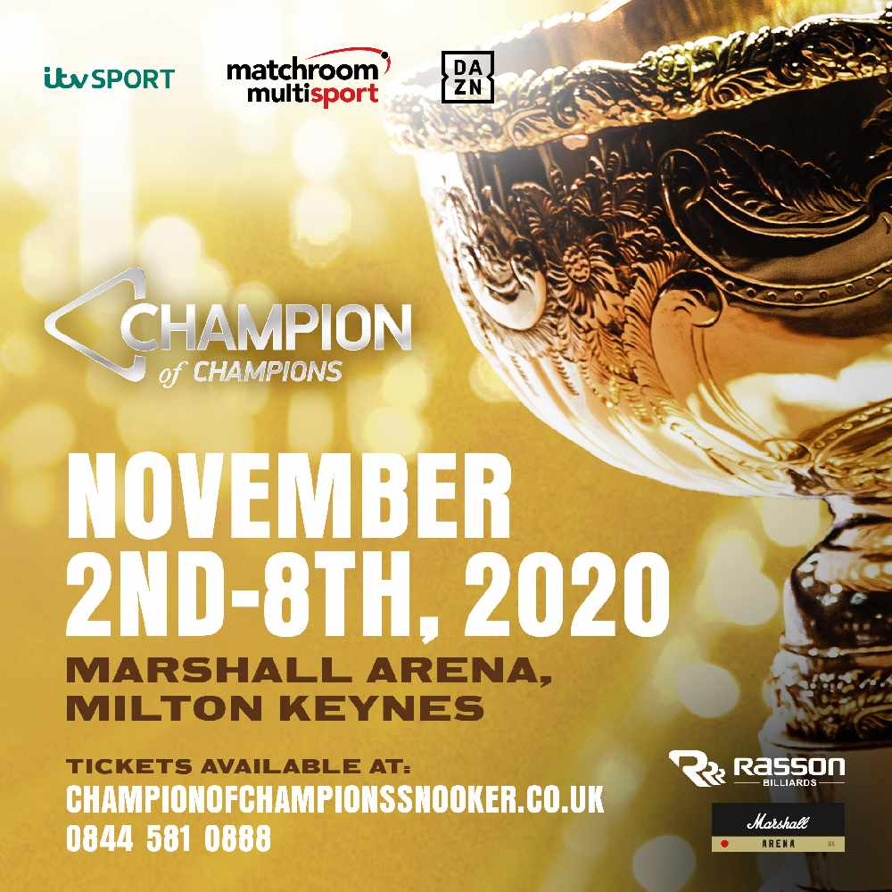 2020 Champion of Champions Snooker - MKFM 106.3FM - Radio Made in ...