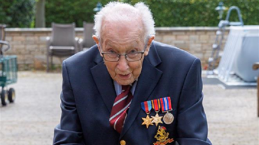 99-year-old Bedfordshire veteran raises over £1m for the NHS