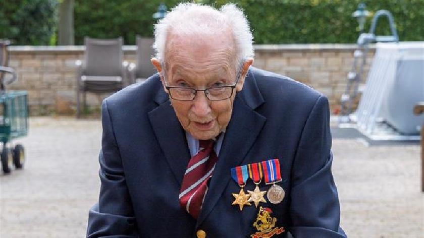 We salute you, Capt Tom! Hero raises £3.5m for NHS