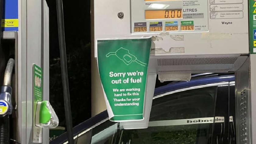 petrol queue