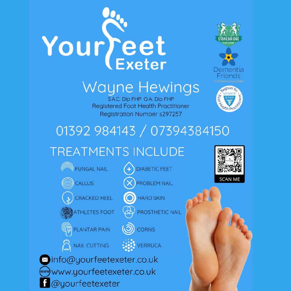 Expert Foot Care At Your Feet Exeter Radio Exe