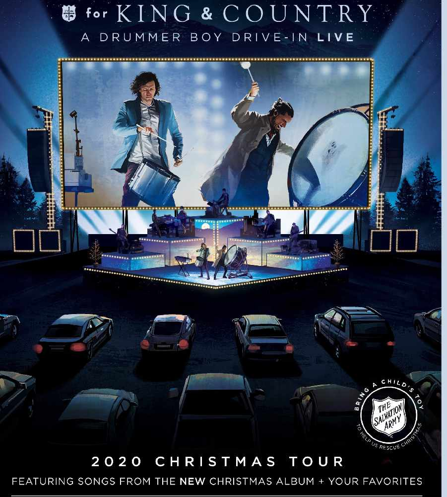 Radio One Christmas Help 2020 for KING & COUNTRY presents 'A DRUMMER BOY DRIVE IN: 2020