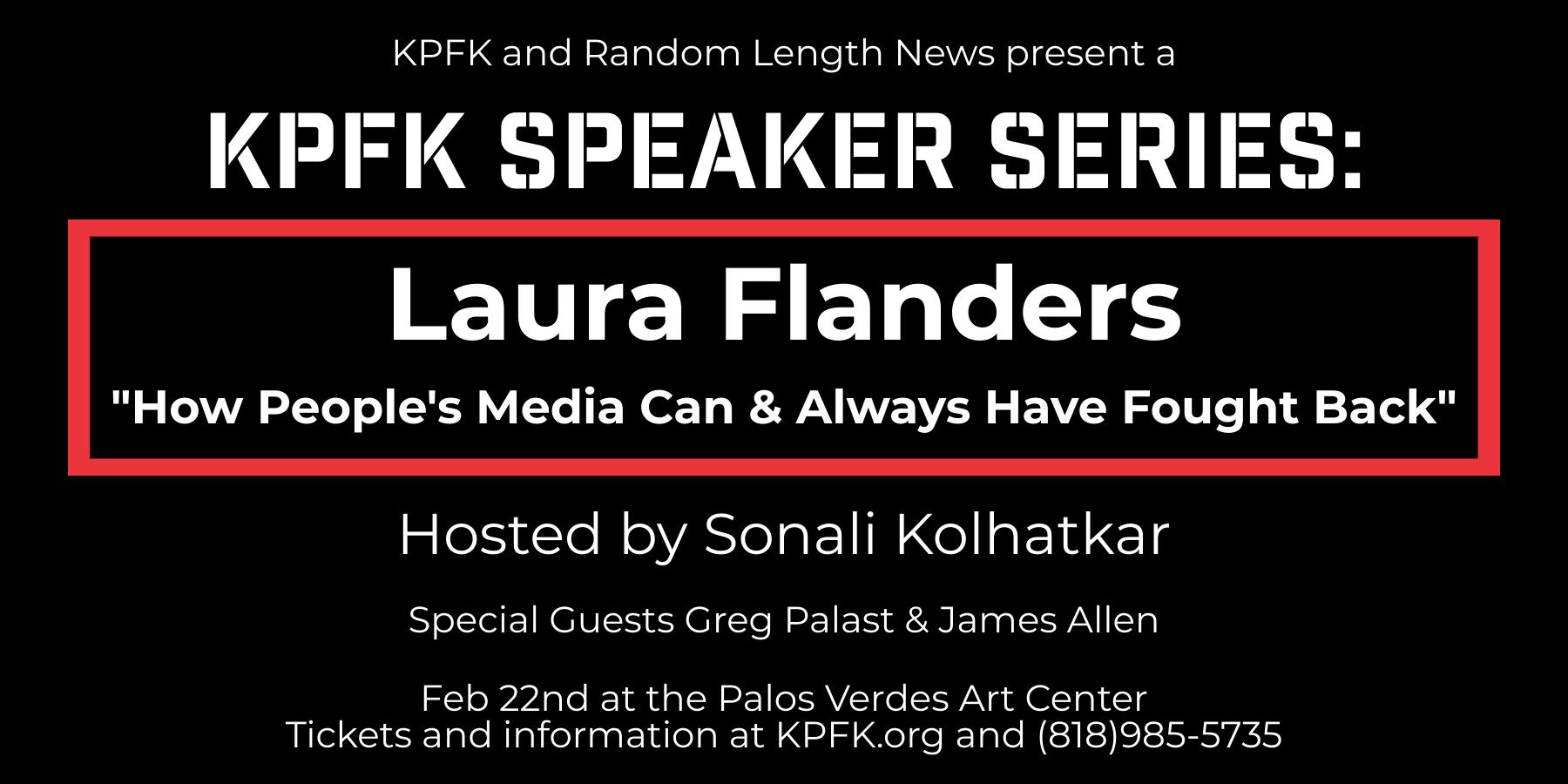 Laura Flanders- KPFK Speaker Series