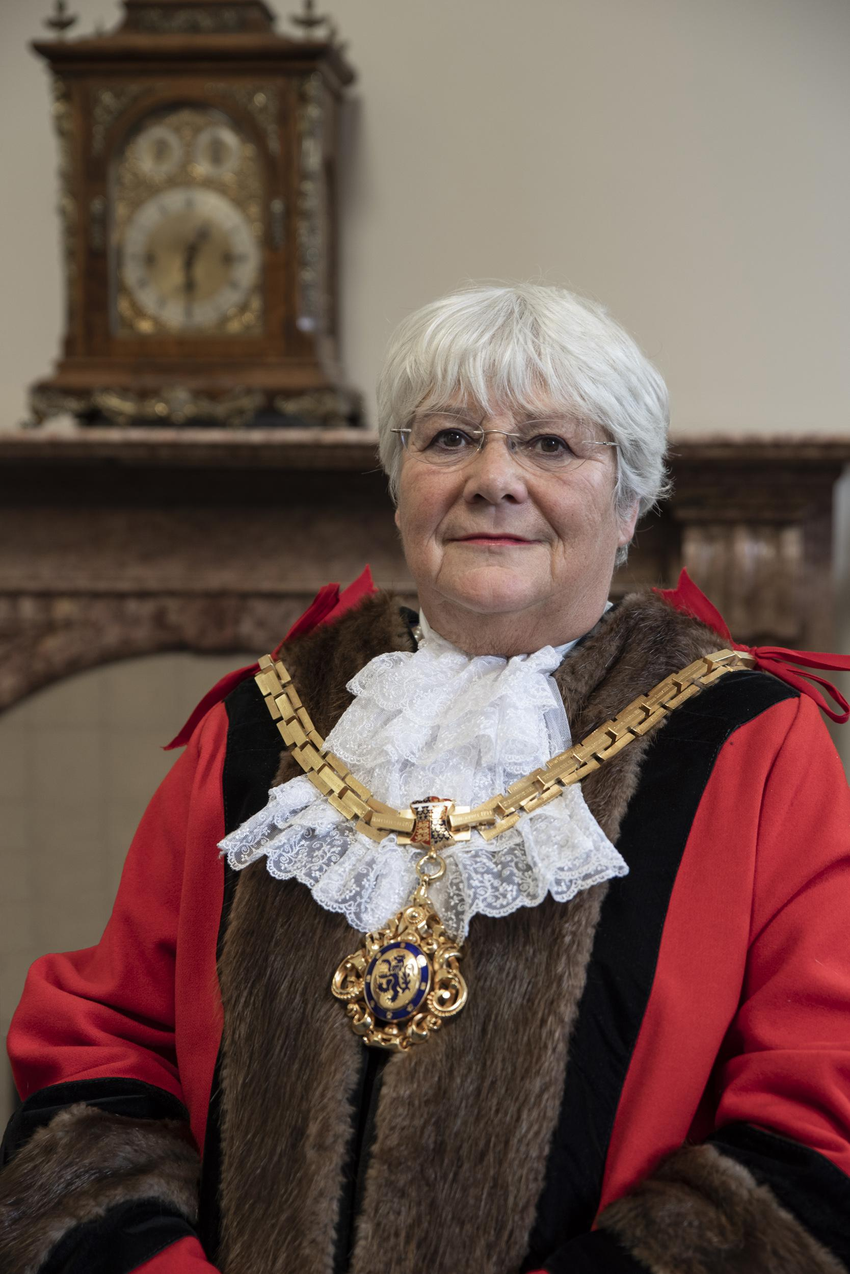 The Worshipful the Mayor of Macclesfield, Councillor Janet Jackson MBE