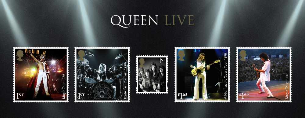 ROYAL MAIL ISSUE NEW SPECIAL STAMPS TO HONOUR ROCK ROYALTY, QUEEN ...