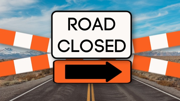 Road Closure Notice For Main Cross Street and Hanover Saluda Road