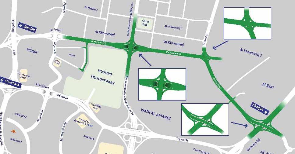 Al Khawaneej Project Map
