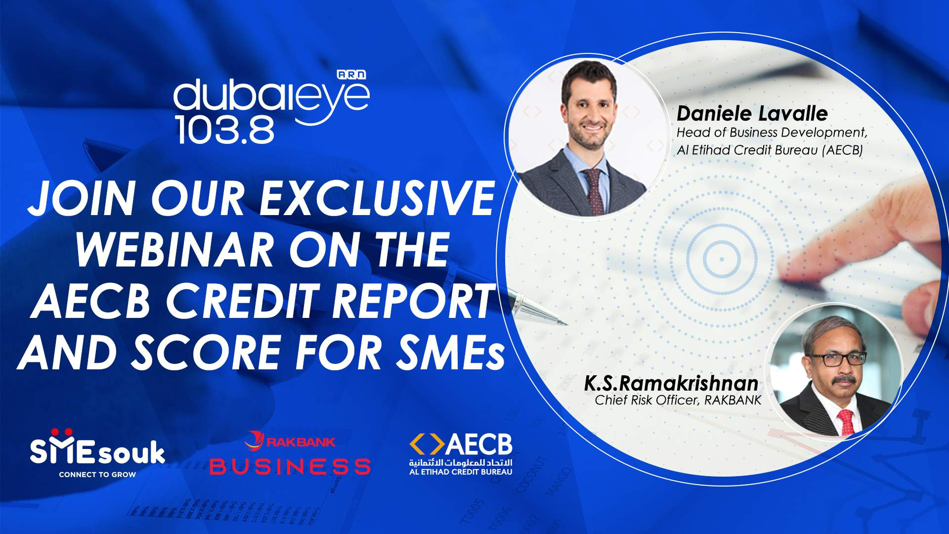 JOIN OUR EXCLUSIVE WEBINAR ON THE AECB CREDIT REPORT AND SCORE FOR SMEs