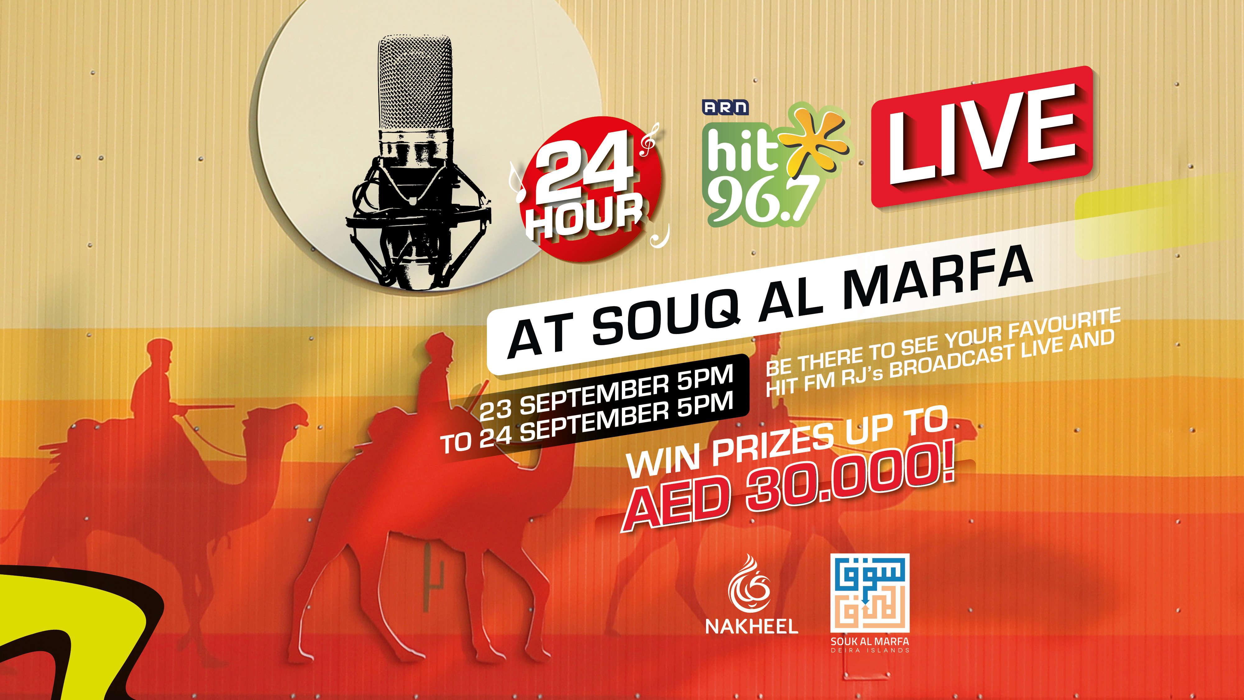 24 Hours LIVE at Souk Al Marfa!