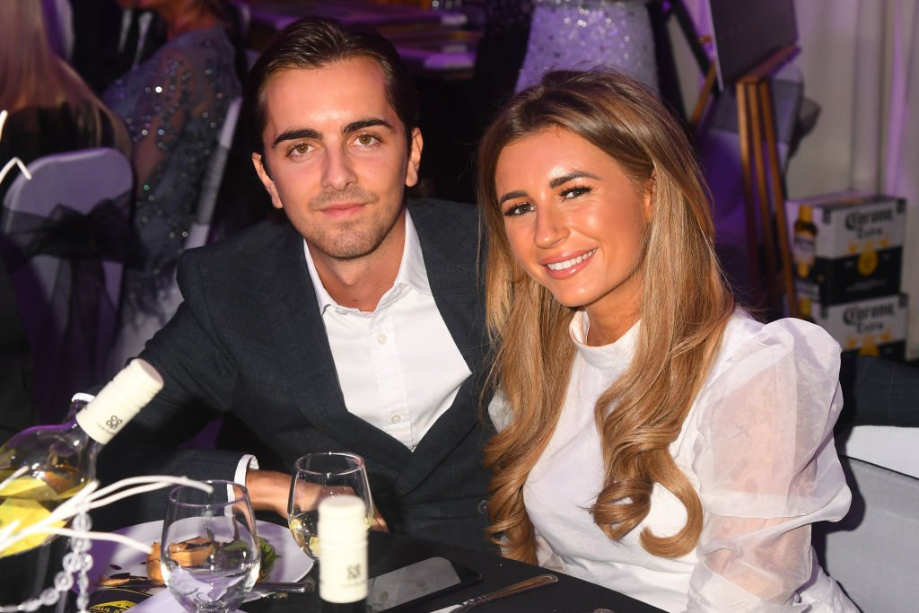 Former Love Island star Dani Dyer and boyfriend Sammy Kimmence photographed at the Paul Strank Charity Gala in 2019