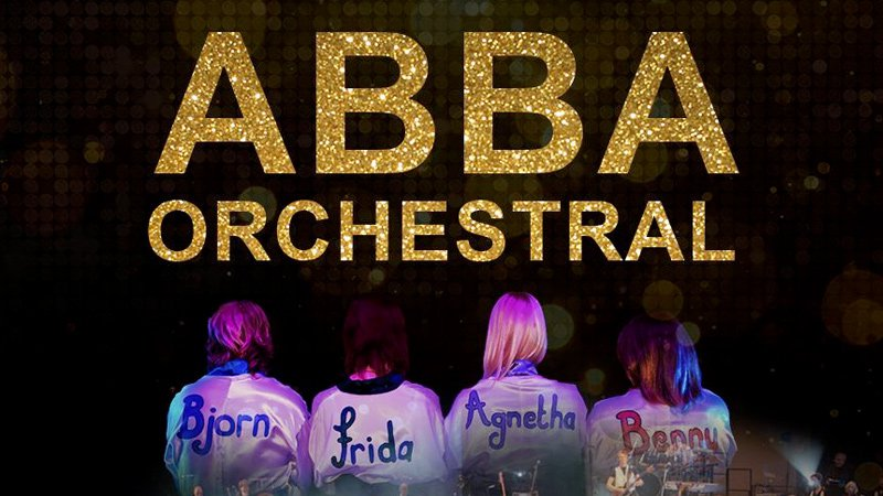 Abba Orchestral logo and singers