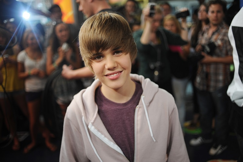 Justin Bieber photographed on a red carpet back in 2009.