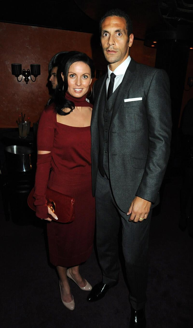 Rio Ferdinand and wife Rebecca picture at a movie premiere after party back in 2009.