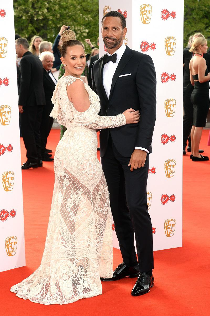 Rio Ferdinand and wife Kate Wright on the red carpet at the 2018 BAFTAs.