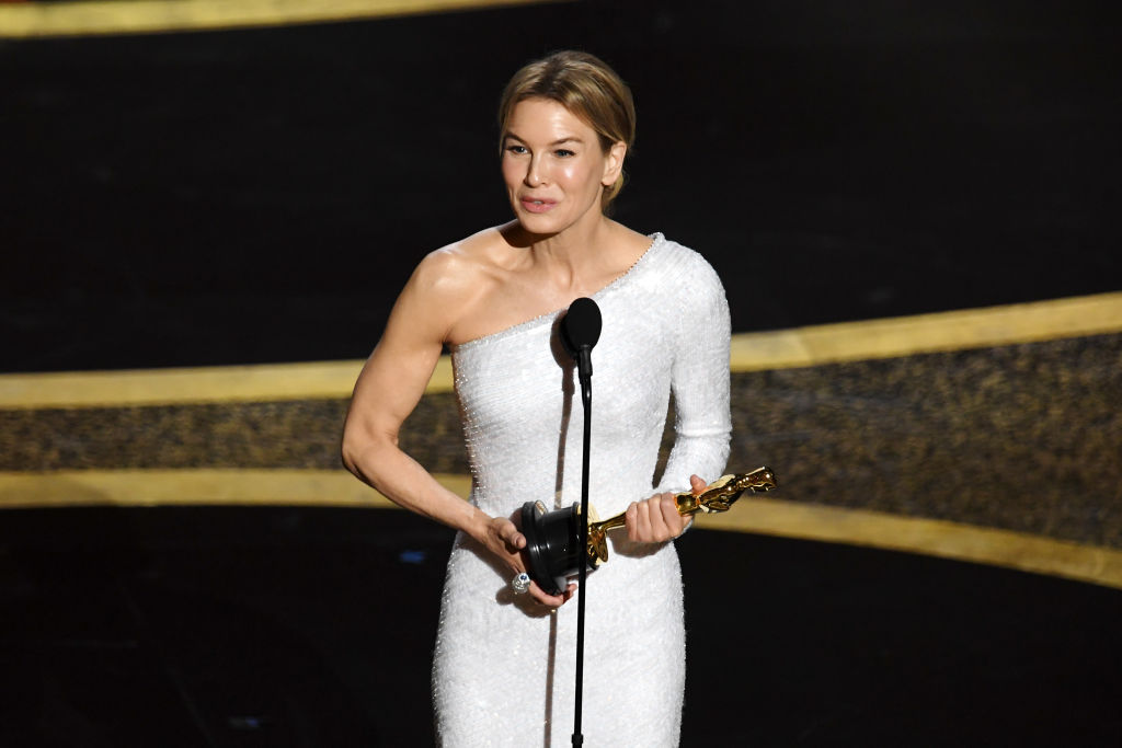Renée Zellweger accepts the award for Best Actress for her performance in Judy