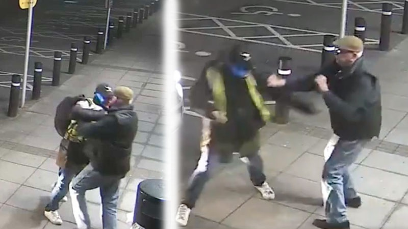 Plucky pensioner, 77, wards off would-be mugger with boxing jabs