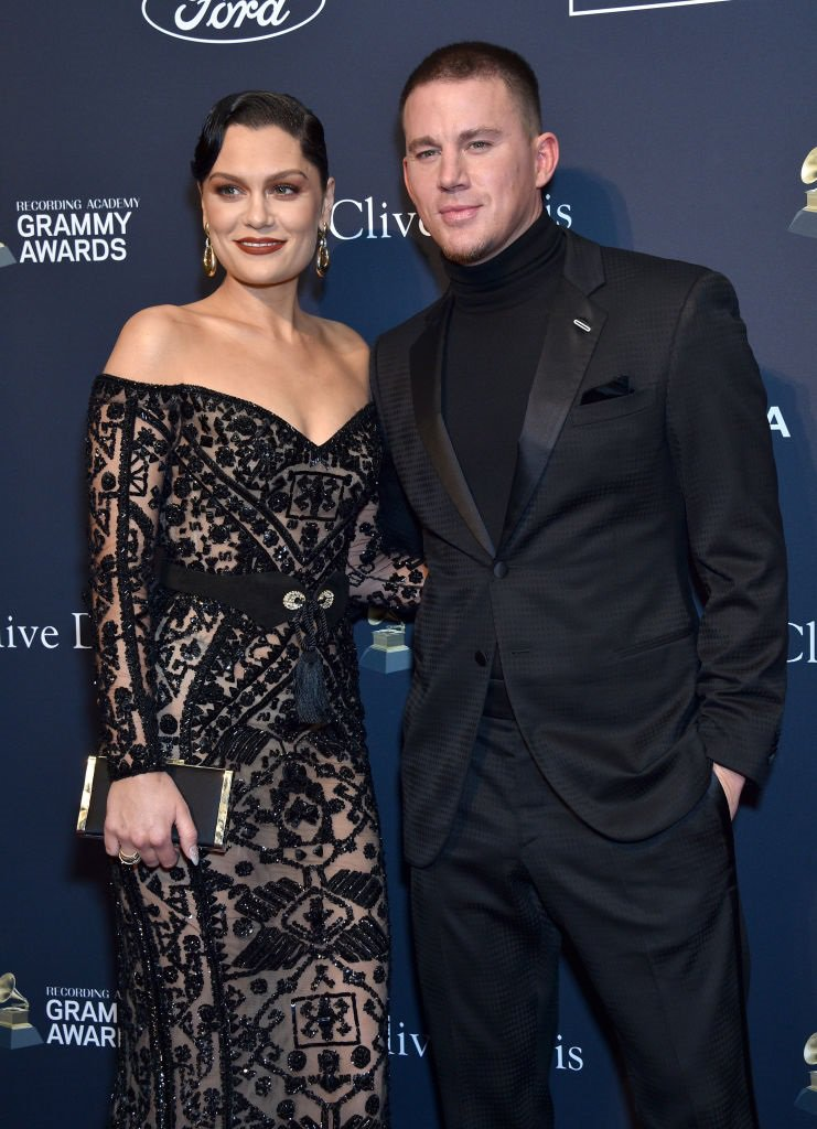 Jessie J and Channing Tatum appear on the red carpet for the Pre-Grammy Gala