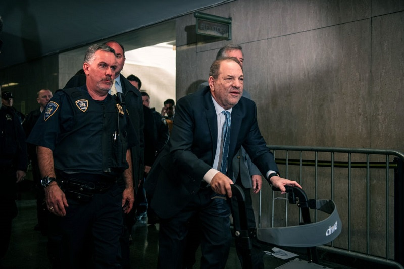 Harvey Weinstein entering the New York City Criminal Court today