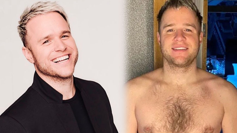 British X-Factor star Olly Murs shows off weight loss transformation