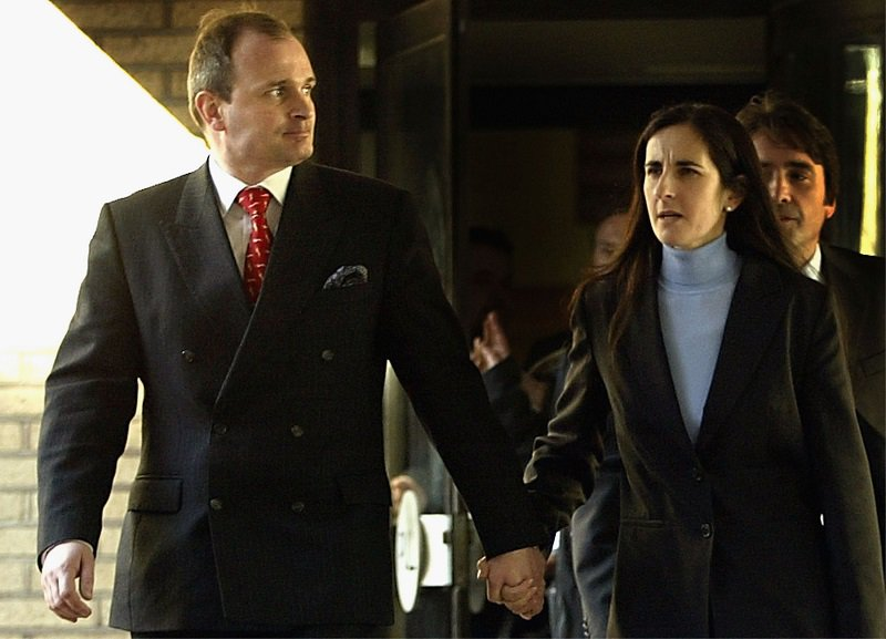 Charles Ingram and wife Diana leave Southwark Crown Court on April 7th, 2003