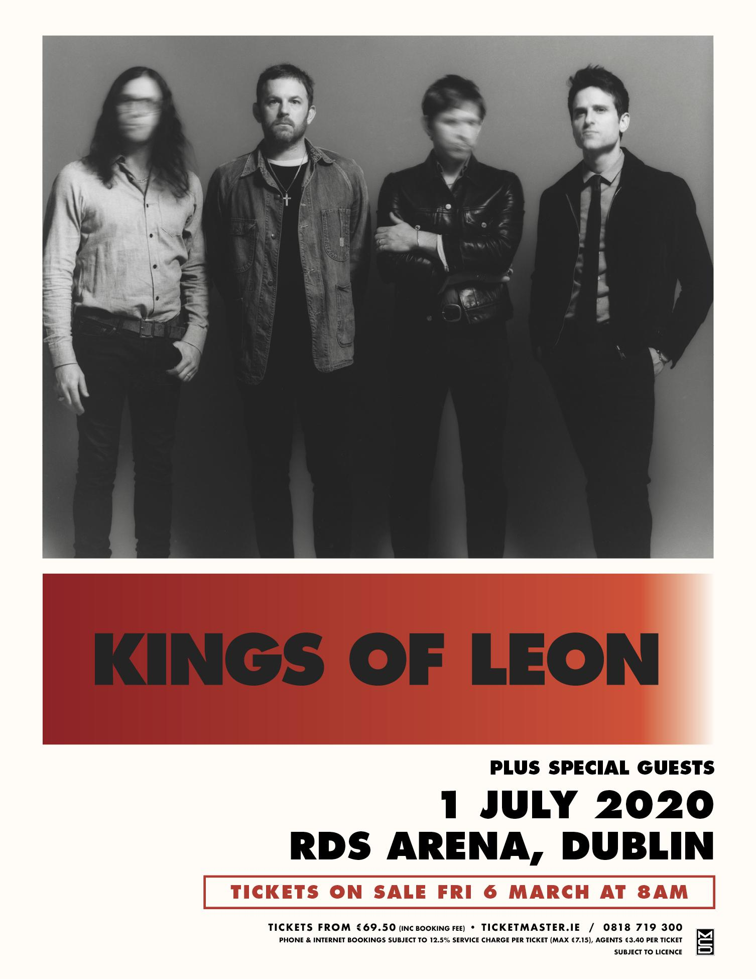 The poster for the Kings of Leon gig at the RDS