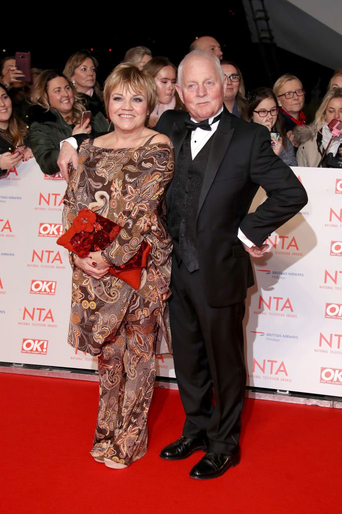 Chris Chittell and Lesley Dunlop at the National Television Awards