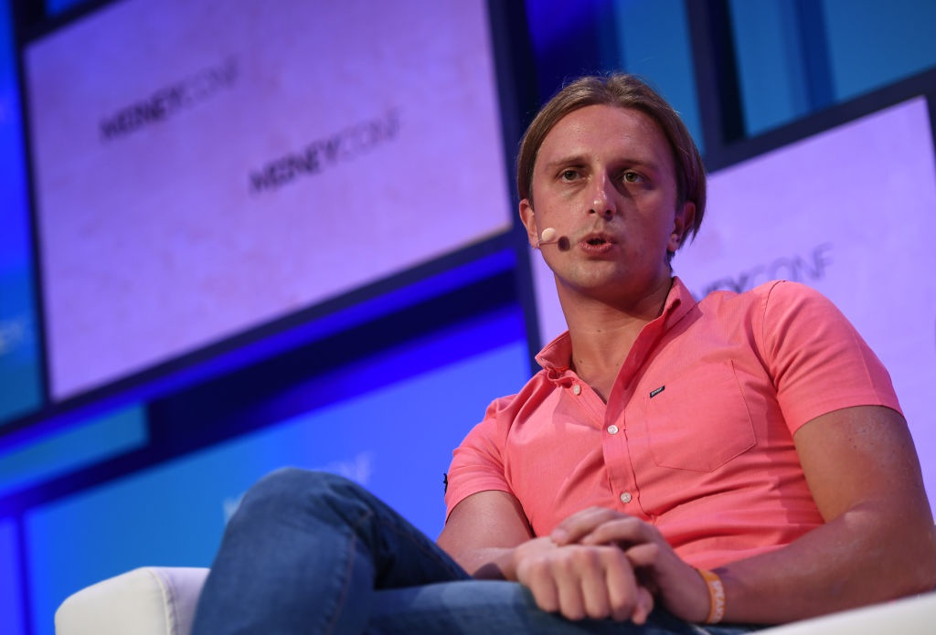 Nikolay Storonsky, Founder & CEO, Revolut, on Centre Stage during day two of MoneyConf 2018 at the RDS Arena in Dublin.