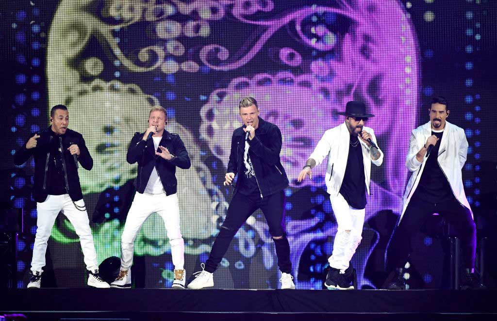 Backstreet boys performing live