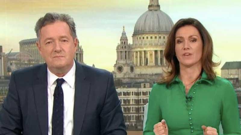 Good Morning Britain's Susanne Reid and Piers Morgan