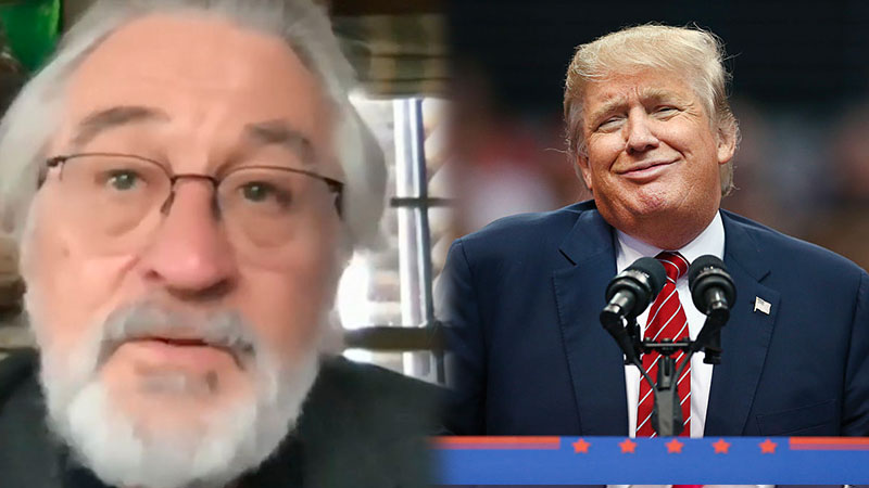 De Niro Says 'Lunatic' Trump Couldn't Care Less How Many Die