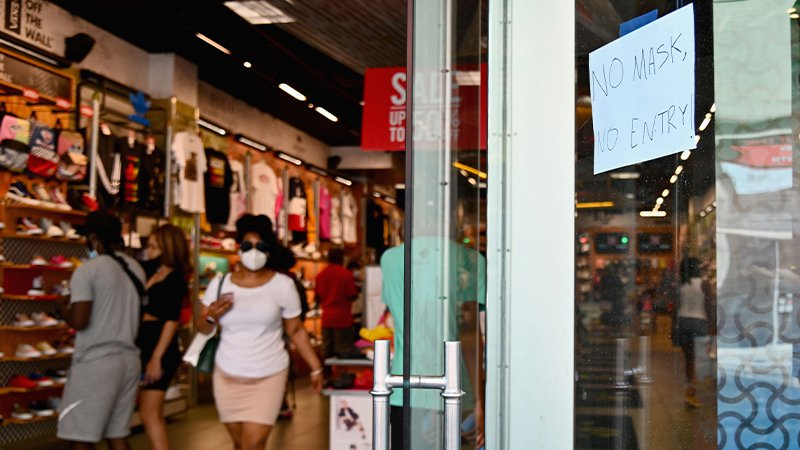 Mandatory wearing of face coverings in shops takes effect from today