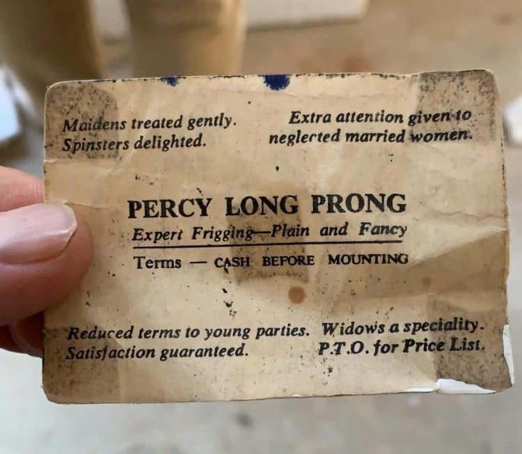 An old X-Rated business card found under floorboards has gone viral -  Dublin's FM104