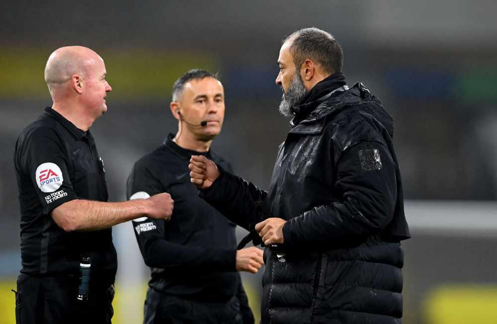 Wolves Boss Nuno Espirito Santo Slams Referee After Burnley Defeat