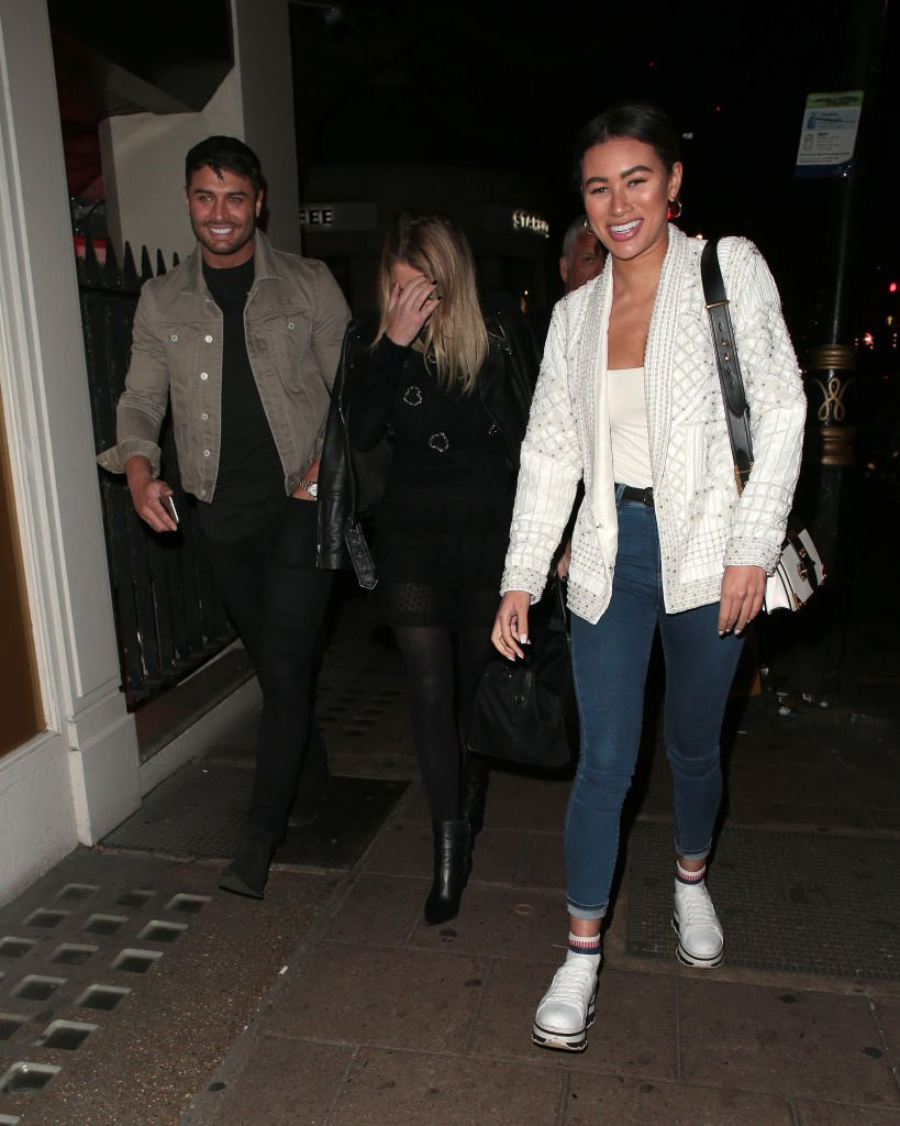 Mike Thalassitis and Montana Brown pictured on a night with another friend in 2019