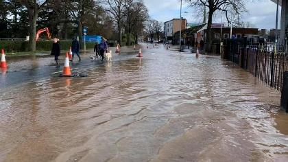 new road flood