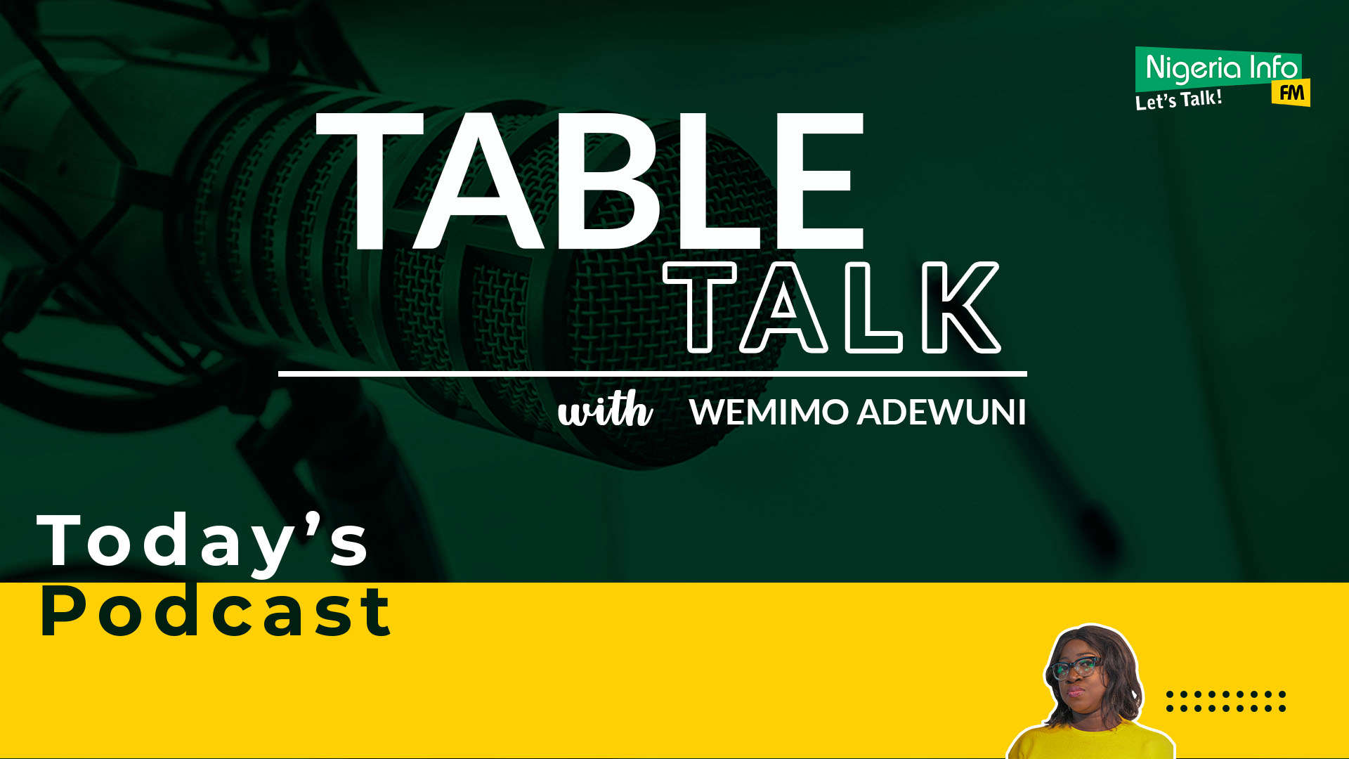 Table Talk With Wemimo