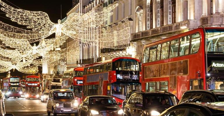 London xmas stock
