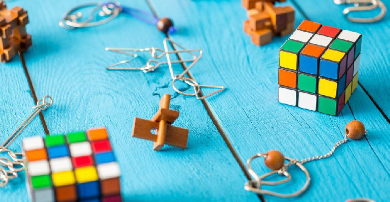 Logic puzzles stock