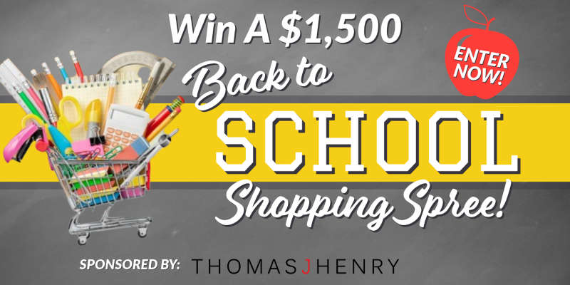 Win a $1,500 Back to School Shopping Spree!