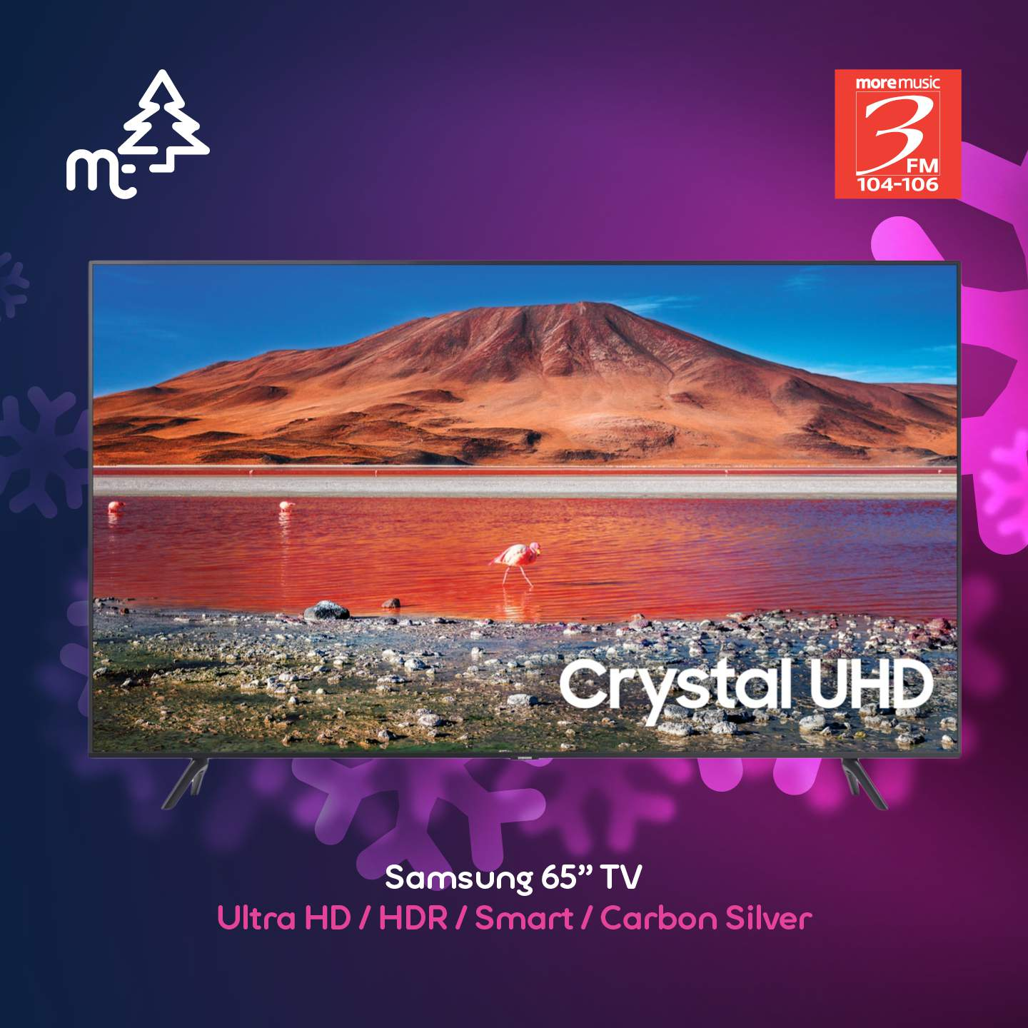 """Samsung 65"""" Ultra HD, HDR, Smart - Carbon Silver"""