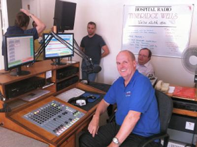 Team members in the final Hospital Radio studio