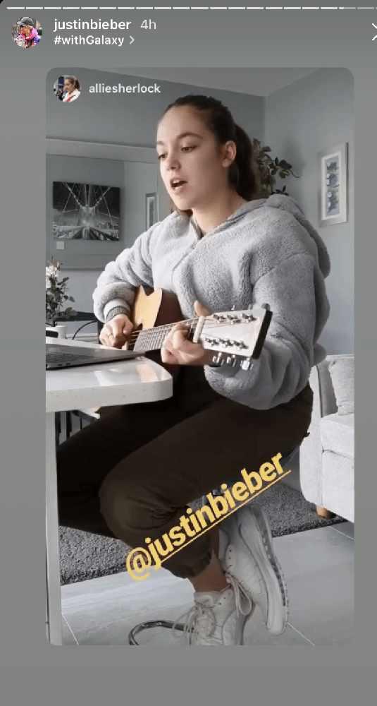 Justin Bieber Shares Allie Sherlock Song On Instagram