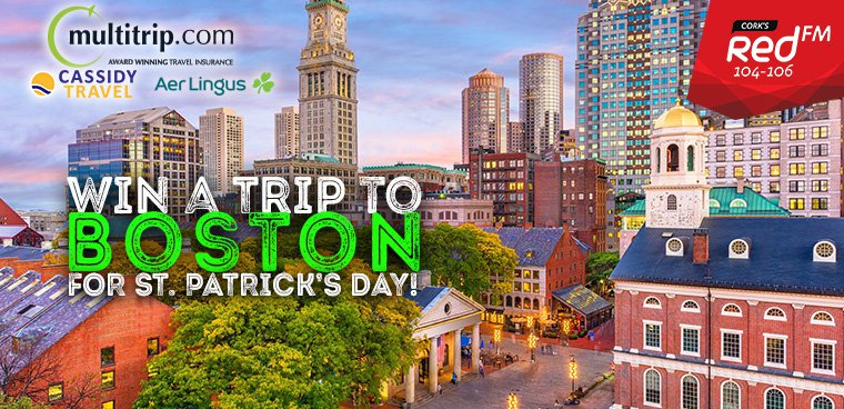 Win A Trip To Boston For St. Patrick's Day!