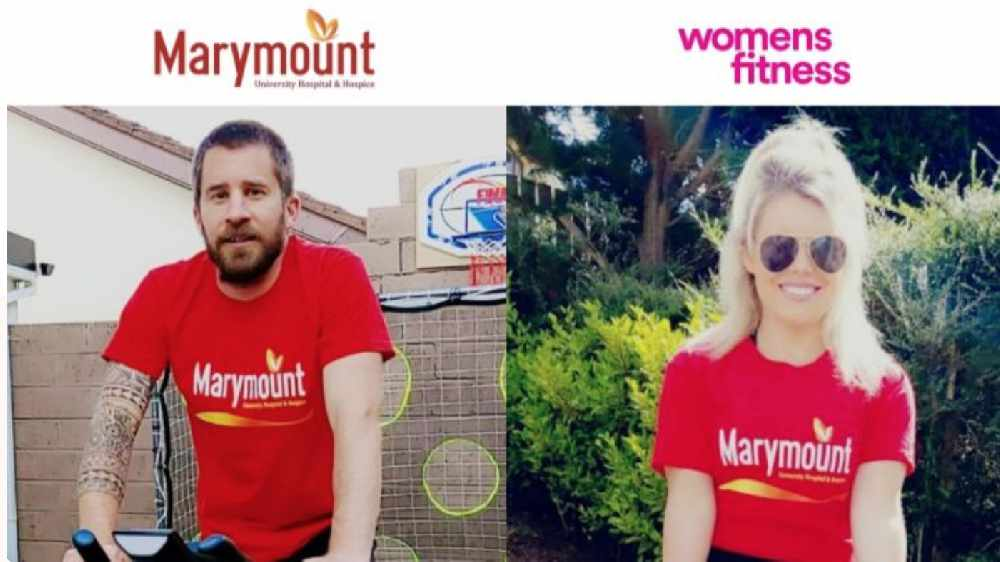 LISTEN BACK: Neil is speaking to Barry who is doing a virtual cycle with his fiancé Sonya to their wedding venue in Marbella in aid of Marymount