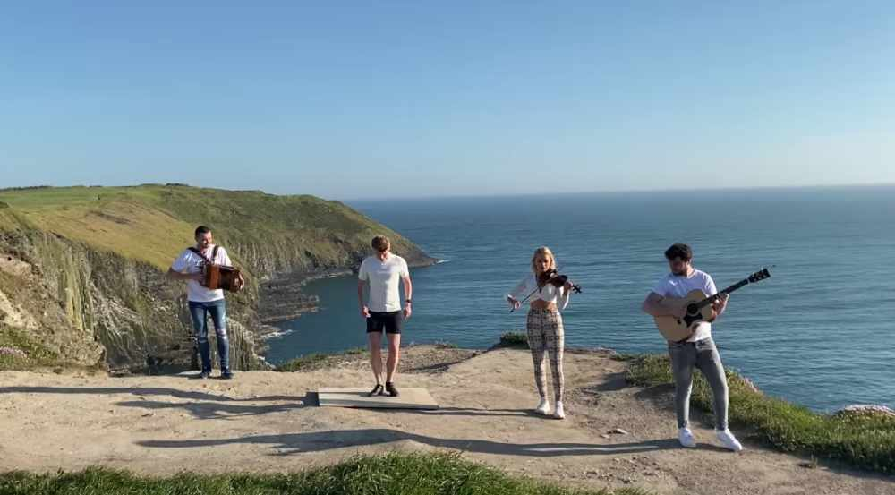 WATCH: Musicians show off beautiful Cork scenery as they celebrate performing together again