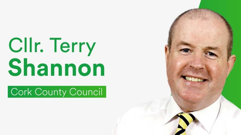 LISTEN BACK: Cllr. Terry Shannon speaks to Ray Foley after his appearance in a TikTok video in a TV ad