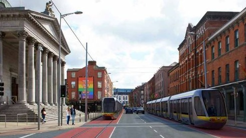 It's not clear when Cork's light rail system could be up and running